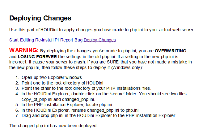 Deploying changes